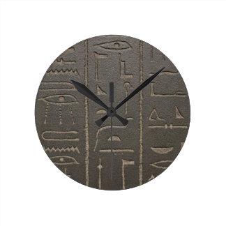 Egyptian Hieroglyphs Ancient Egypt Writing Symbols Clock