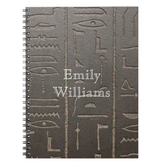 Egyptian Hieroglyphs Ancient Egypt Writing Symbols Spiral Note