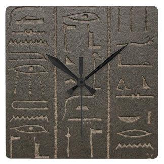 Egyptian Hieroglyphs Ancient Egypt Writing Symbols Wall Clocks