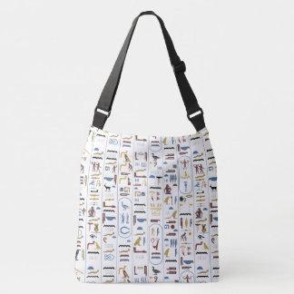 Egyptian Hieroglyphs Crossbody Bag