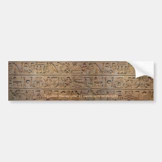 Egyptian Hieroglyphs Historic Bumper Sticker
