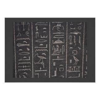 Egyptian Hieroglyphs Invitation