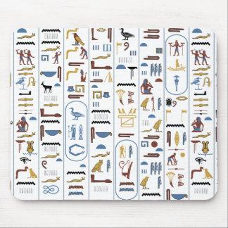 Egyptian Hieroglyphs Pharaoh's Message Mouse Mat