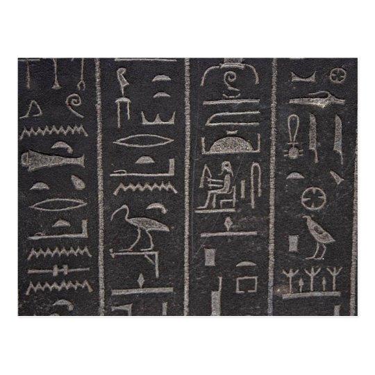 Egyptian Hieroglyphs Postcard