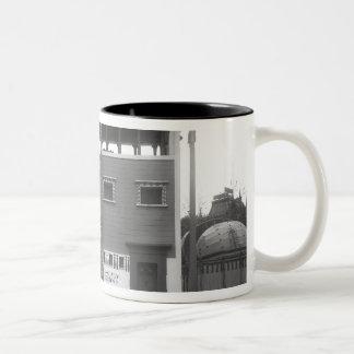 Egyptian House, Universal Exhibition Two-Tone Coffee Mug