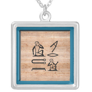 """Egyptian """"I Love You"""" (Man to Woman) Custom Necklace"""