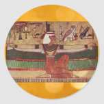 Egyptian Isis stickers Round Sticker