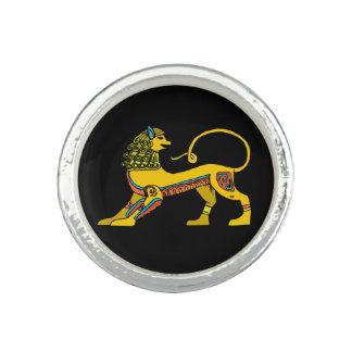 Egyptian Lion Round Ring
