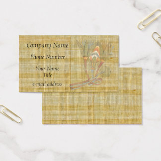 Egyptian Lotus Flowers-Papyrus Business Card
