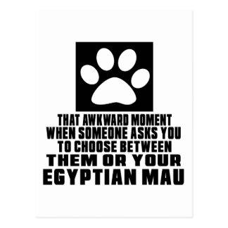 EGYPTIAN MAU AWKWARD DESIGNS POSTCARD