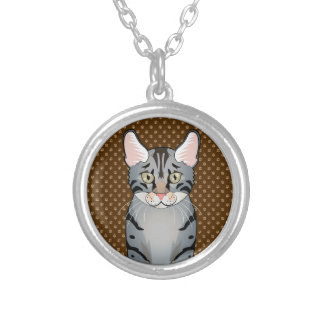 Egyptian Mau Cat Cartoon Paws Pendants