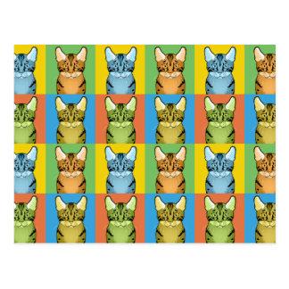 Egyptian Mau Cat Cartoon Pop-Art Postcards