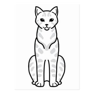 Egyptian Mau Cat Cartoon Postcard