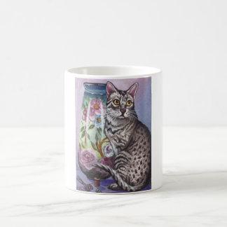 Egyptian Mau Cat Vase Mug