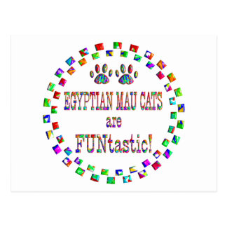 Egyptian Mau Cats are FUNtastic Post Cards