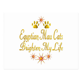 Egyptian Mau Cats Brighten My Life Post Cards