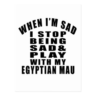 EGYPTIAN MAU COOL CAT DESIGNS POSTCARD