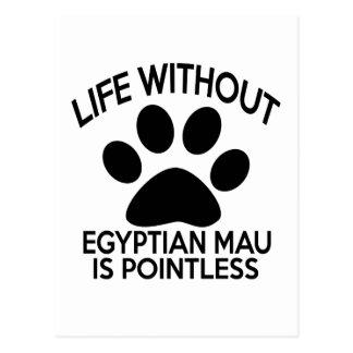 EGYPTIAN MAU DESIGNS POSTCARD