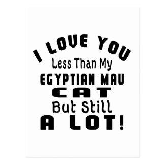 EGYPTIAN MAU. FUNNY DESIGNS POSTCARD