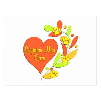 Egyptian Mau Heart Postcard