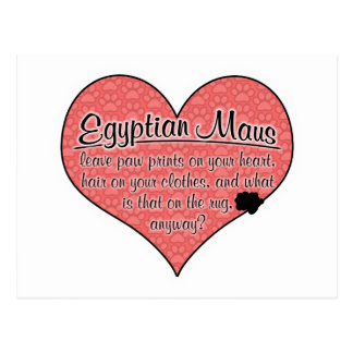 Egyptian Mau Paw Prints Cat Humor Postcard