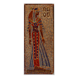 Egyptian mosaic poster