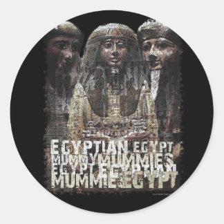 Egyptian Mummies Round Sticker