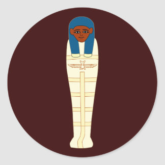 Egyptian mummy egypt mummy classic round sticker