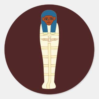Egyptian mummy egypt mummy round sticker