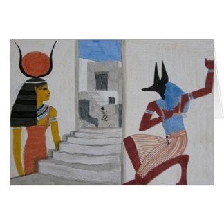 Egyptian Mystery - Blank Greetings Card