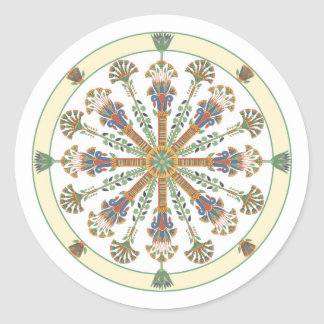 Egyptian Nouveau Lotus Mandala Sticker