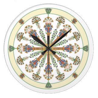 Egyptian Nouveau Lotus Mandala Wall Clock