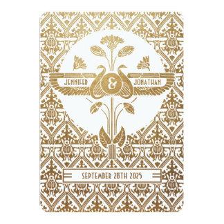 Egyptian Nouveau Wedding Invitations Gold & White