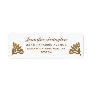 Egyptian Nouveau Wedding Labels (Gold & White) I