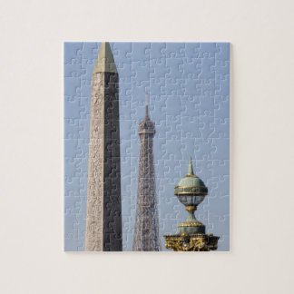 Egyptian Obelisk and lamp in Place de la Jigsaw Puzzle