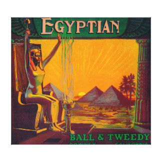 Egyptian Orange LabelDowney, CA Canvas Print