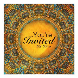 Egyptian Owls 13 Cm X 13 Cm Square Invitation Card