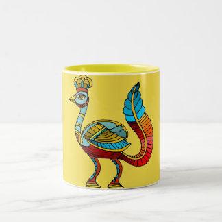 Egyptian Peacock Two Tone Mug