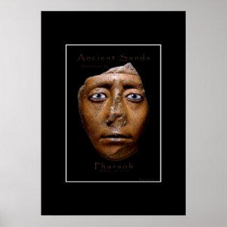 Egyptian Pharaoh Face Art Poster