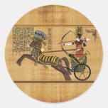 Egyptian Pharaoh Ramesses II & Chariot at Kadesh Round Stickers