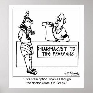 Egyptian Prescription Written In Poster