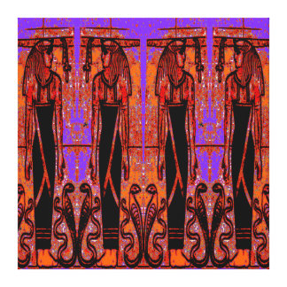 Egyptian Priests and Cobras in Garden III C1 SDL Canvas Print