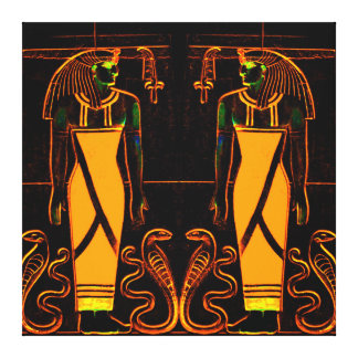 Egyptian Priests and Cobras in Yellow I C1 SDL Canvas Print