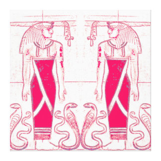 Egyptian Priests Cobras In White Rose Red 1 C1SDL Canvas Print