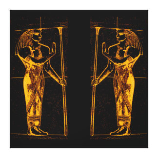 Egyptian Priests In Golden Yellow I C1 SDL Canvas Print