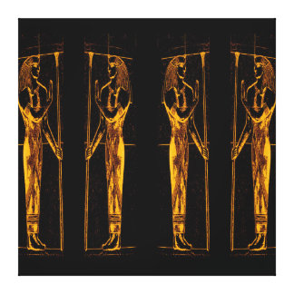Egyptian Priests In Golden Yellow III C1 SDL Canvas Print