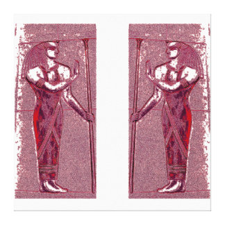 Egyptian Priests In Ruby Red I C1 SDL Canvas Print