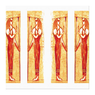 Egyptian Priests In White Red Gold III C1 SDL Canvas Print