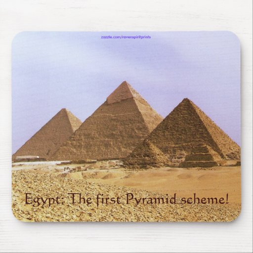 Egyptian Pyramids at Giza Business Humour Mousepad
