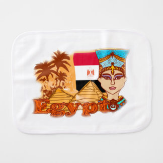 Egyptian queen cleopatra Burp Cloth